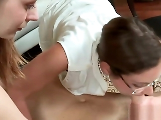 Milf In Strapon And Fucked Teen Before Banged By Cock