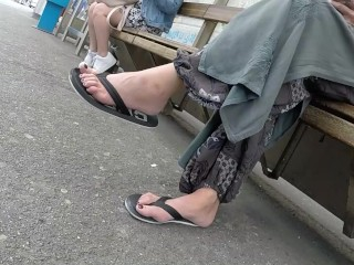 Best 2019 Dispirited Milf Legs Juvenile Trotters Bush-leaguer Voyeur Out In The Open Feet 82