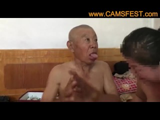 Muted Chinese Ancient Bloke Shagging Grandma